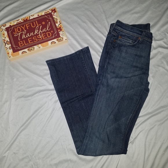 7 For All Mankind Denim - 7FAM 7 For all Mankind dark wash jeans 27